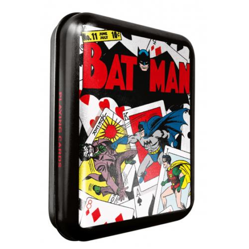 DC Comics Batman és Robin vs Joker Vintage francia kártya fém tokban