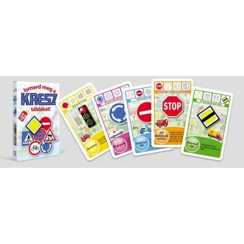Ismerd meg a KRESZ táblákat kártya játék
