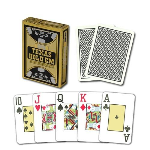 COPAG Texas hold'em 100% plastic póker kártya fekete