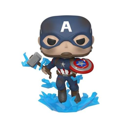 PoP! Movies Avengers: Endgame Amerika Kapitány w/Broken Shield & Mjölnir figura 9 cm