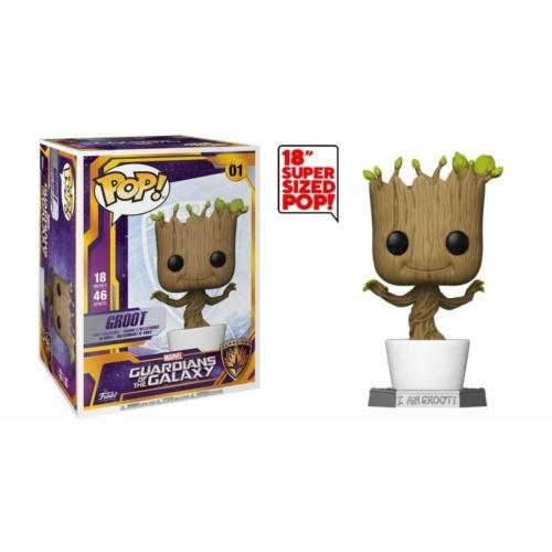 PoP! Supersized Óriás méretű Guardians of the Galaxy  Dancing Groot figura 46 cm