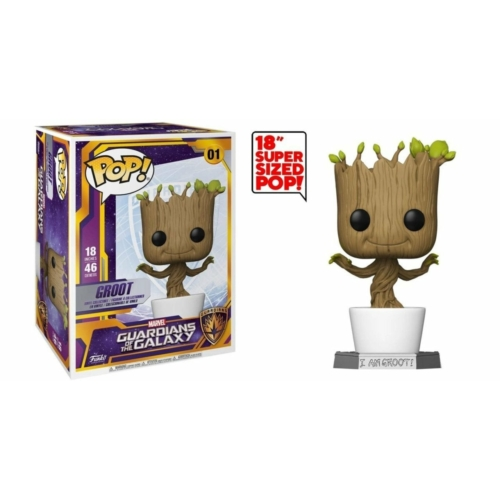 PoP! Supersized Óriás méretű Guardians of the Galaxy Dancing Groot PoP figura 46 cm