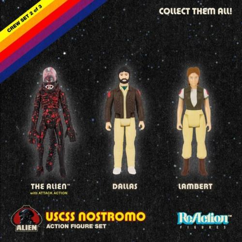 Alien ReAction 3-Pack Pack C retro figura szett 10 cm