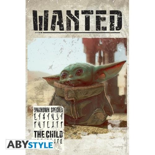STAR WARS Mandalorian Baby Yoda Grogu wanted poszter 91.5 x 61 cm