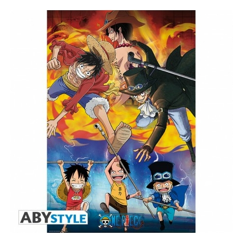 ONE PIECE Ace Sabo  Luffy poszter 91.5 x 61 cm