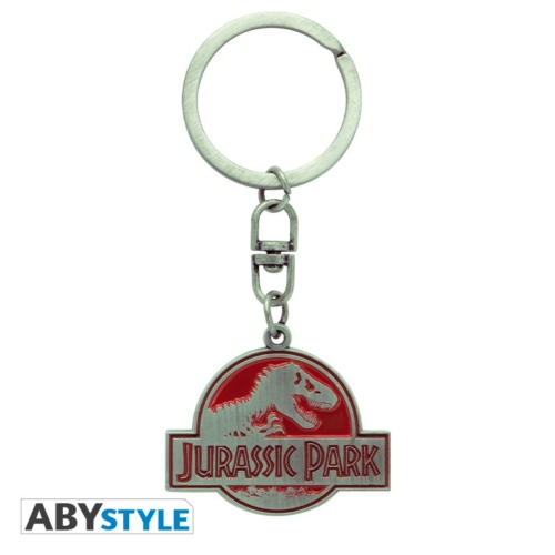JURASSIC PARK logo fém kulcstartó