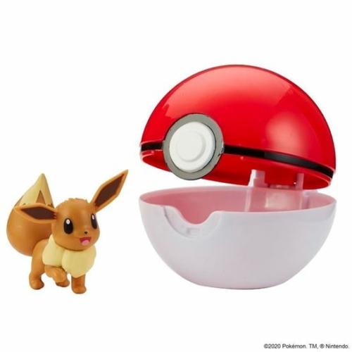 POKEMON POKEBALL clip n' go és 1db Eevee Pokémon figura 5 cm