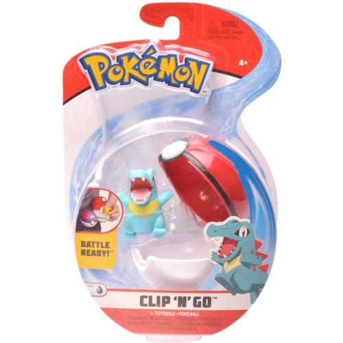 POKEMON POKEBALL clip n' go és 1db Totodile Pokémon figura 5 cm