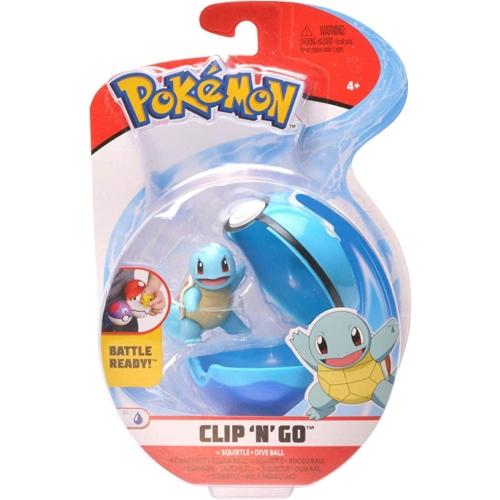 POKEMON POKEBALL clip n' go és 1db Squirtle Pokémon figura 5 cm