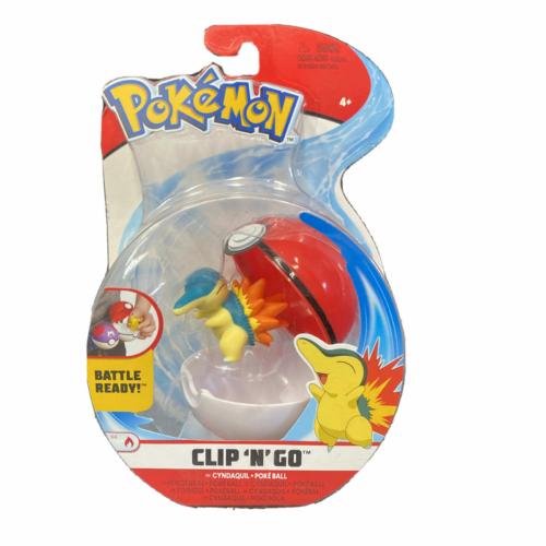 POKEMON POKEBALL clip n' go és 1db Cyndaquil Pokémon figura 5 cm
