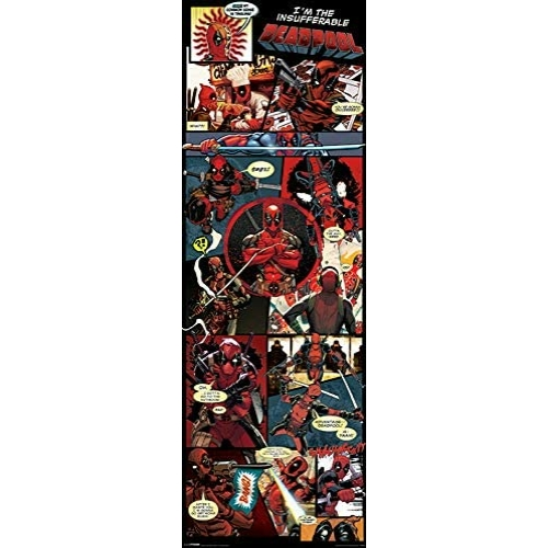 MARVEL Deadpool panels ajtóposzter