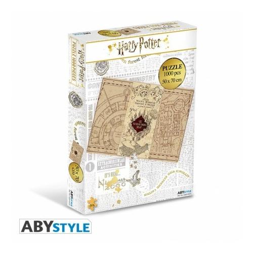 HARRY POTTER Marauder's Map Tekergők Térképe 1000 darabos puzzle kirakós társasjáték