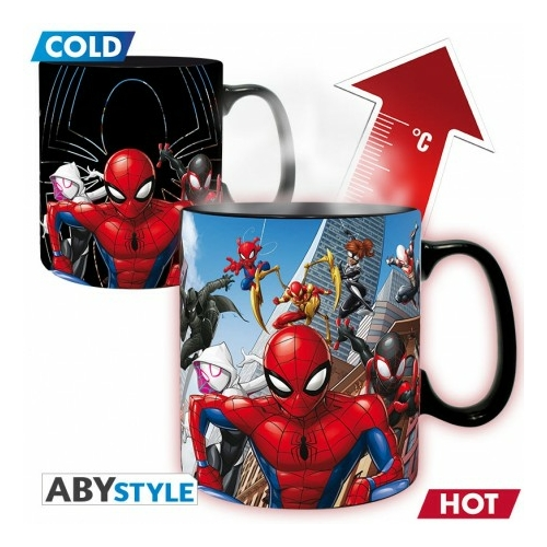 MARVEL Spider-man Pókember multiverse hőre változó bögre 460 ml