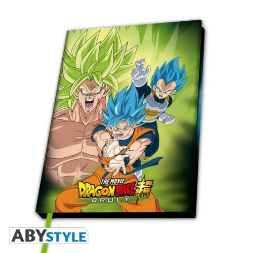 DRAGON BALL Broly VS Goku & Vegeta A5 méretű notesz jegyzetfüzet