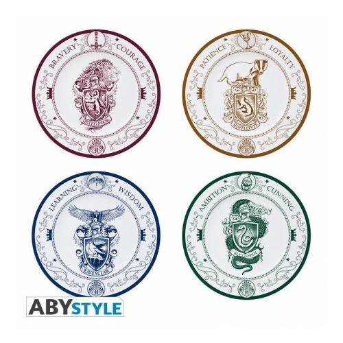 HARRY POTTER Hogwarts Houses 4 darabos kerámia tányér készlet