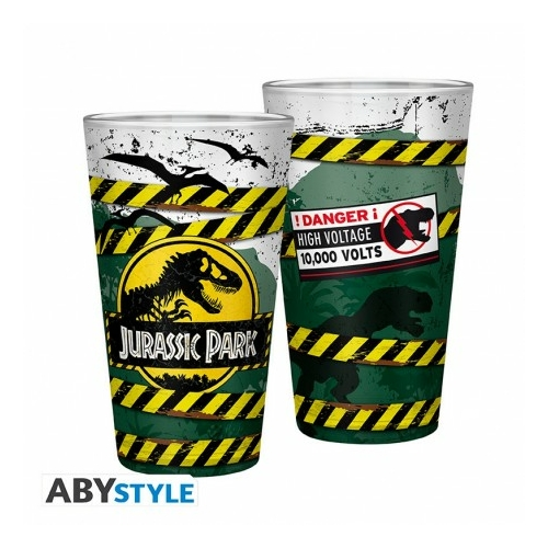 JURASSIC PARK Danger High Voltage premium üvegpohár 400 ml