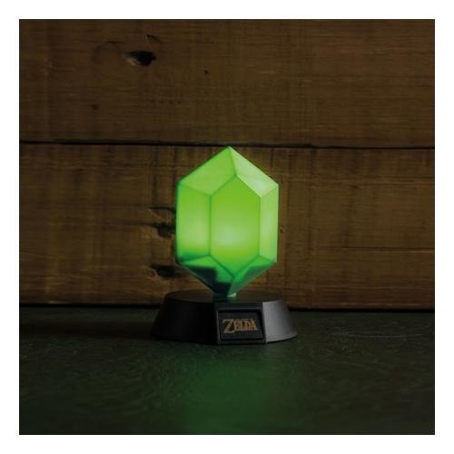 ZELDA Green Rupee 3D lámpa