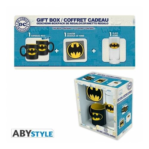 DC COMICS BATMAN csésze + pohár + poháralátét ajándék csomag