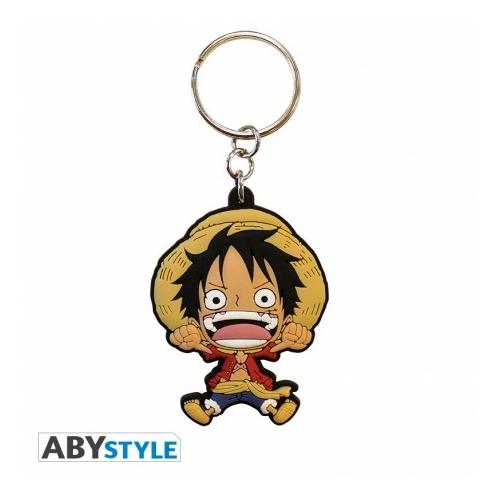 ONE PIECE Monkey D Luffy PVC kulcstartó