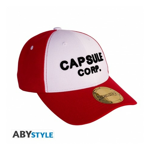 DRAGON BALL Red & White Capsule Corp logo állítható baseball sapka
