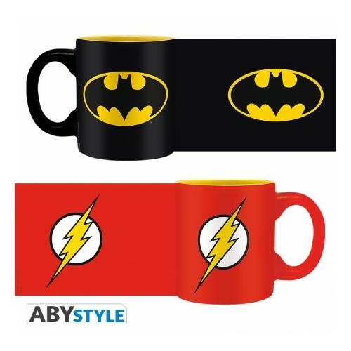 DC COMICS Batman és Flash mini espresso kávés bögre szett