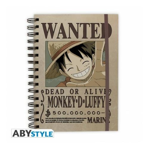 ONE PIECE Luffy Wanted spirálfüzet notesz