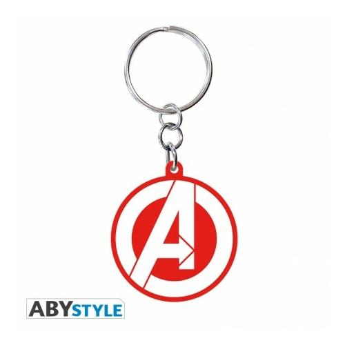 MARVEL Avengers Bosszúállók logo PVC kulcstartó