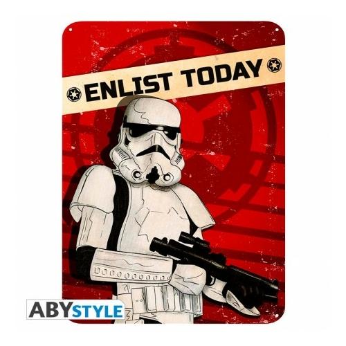 STAR WARS Trooper fém plakát