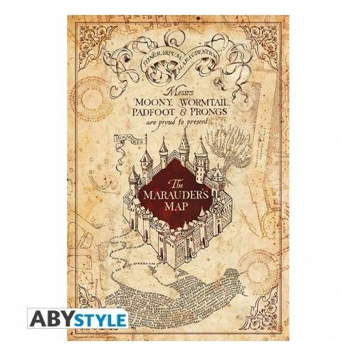 HARRY POTTER Tekergők térképe Marauders Map poszter
