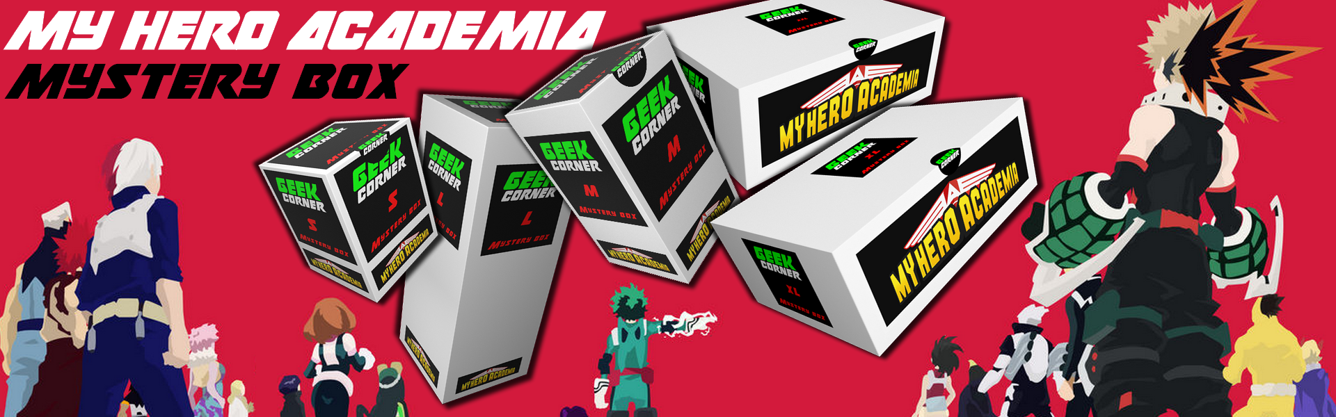 MY hero academia mystery boxok